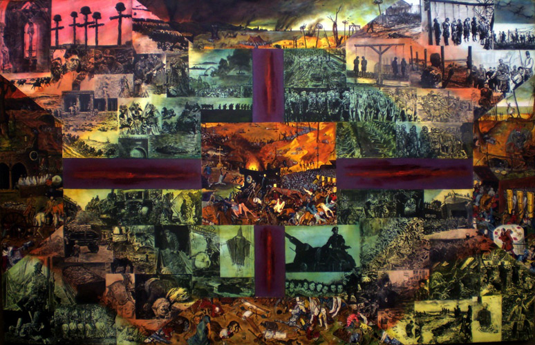 The Triumph of Death after Breughel - Paul Woods paintings